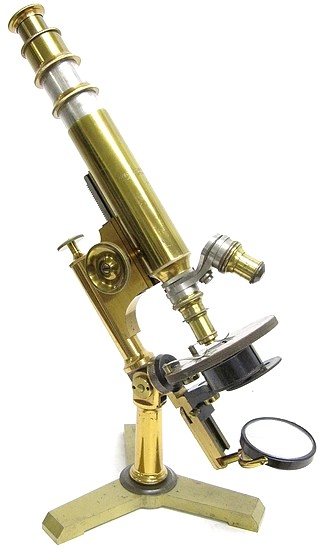 Bausch & Lomb Optical Co., Rochester NY. An early version of theInvestigator model microscope, c. 1880