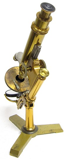 Bausch and Lomb Optical Co., Rochester NY. Early version of the Investigator model microscope, c. 1880