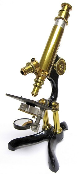 Bausch & Lomb Optical. Co., Rochester NY.#643, The Reseach model microscope, c. 1878