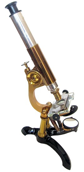 Bausch & Lomb Optical Co., Rochester NY. Serial #559, Pat. Oct. 3, 1876. The Student Model Microscope, c. 1878