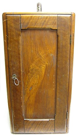 "R.& J.Beck, London and Philadelphia, #10679, The ""Improved National"" Binocular Model Microscope c. 1882. Wood storage case"