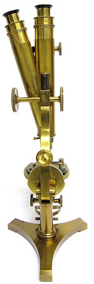 "R.& J.Beck, London and Philadelphia, #10679, The ""Improved National"" Binocular Model Microscope c. 1882"