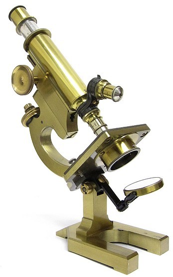 R. & J. Beck Ltd, London, #29446. The London-Handle Model Microscope, c. 1910