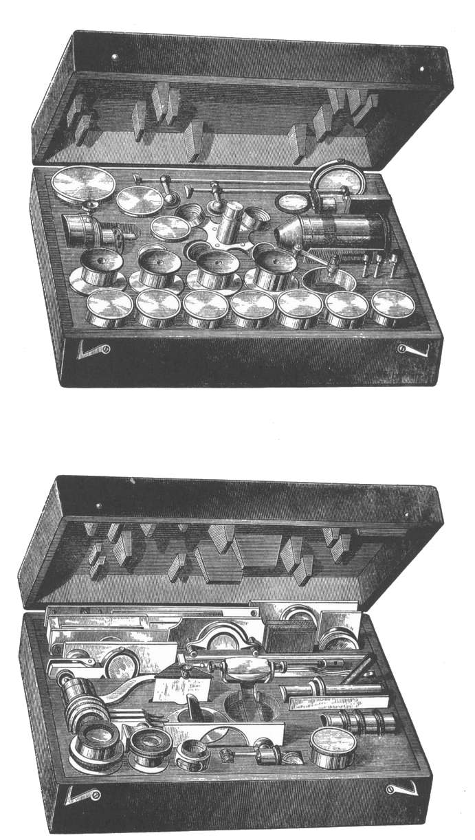 Accessories supplied with the Smith, Beck, and Beck Large Best Microscope