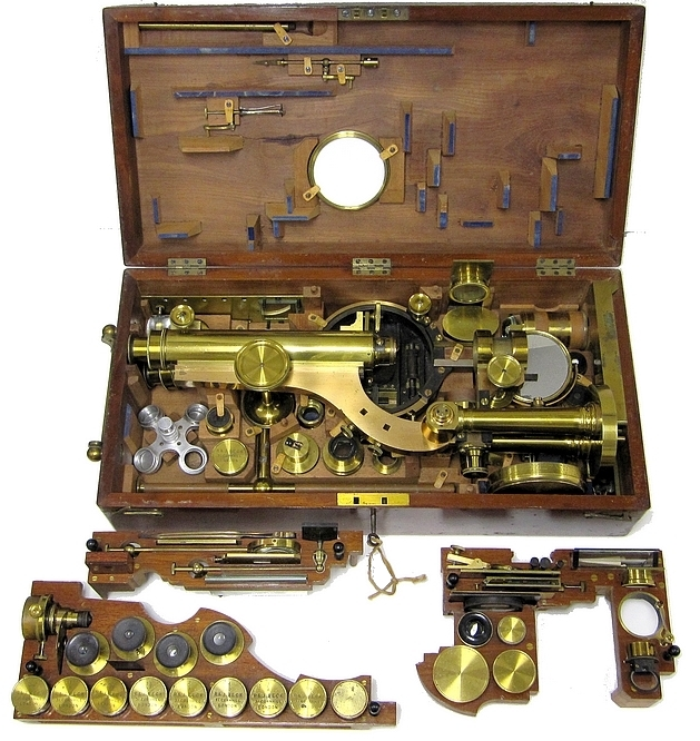 R. & J. Beck, 31 Cornhill, London, #6251. The Large Best Portable Binocular Microscope, c.1872. Accessories
