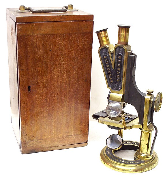 Smith Beck & Beck, London #3114. The Universal Model Binocular Microscope with case
