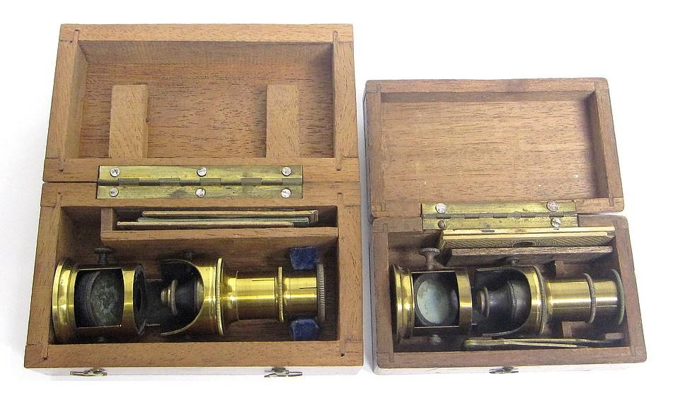 bertrand furnace microscopes in cases