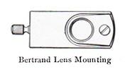 bertrand lens monting