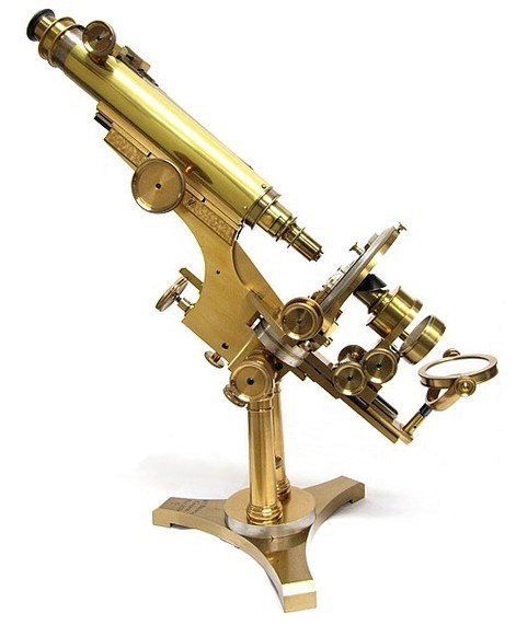 w. h. bulloch, chicago, pat. 1879, #260. the no. 1 professional binocular microscope. c.1883