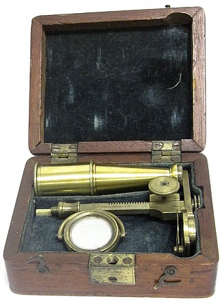 Cary, London. Gould's Improved Pocket Compound Microscope, c. 1835. The microscope of Alexander Boyden (1791-1881)