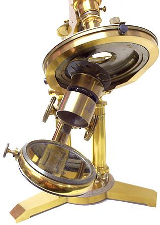 The American Centennial microscope swinging substage