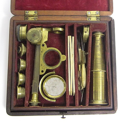 I.P. Cutts, London. Gould type microscope, c.1835