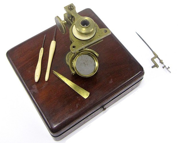 i.p. cutts, gould type microscope, c.1835