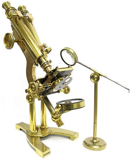 J.B. Dancer Optician No. 371 Manchester. Wenham binocular microscope, c. 1863