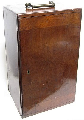 J.B. Dancer Optician No. 371 Manchester. Wenham binocular microscope, c. 1863. Wood case.