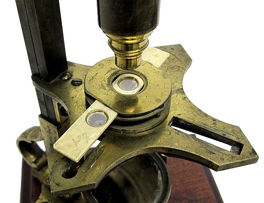 Dollond London, Cuff's New Constructed Double Microscope, c. 1765. Stage