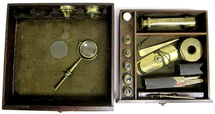 Dollond London, Cuff's New Constructed Double Microscope, c. 1765. Draws