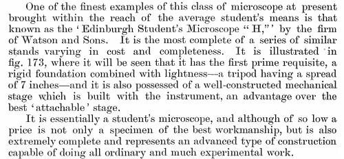 Watson Edinburgh H student microscope