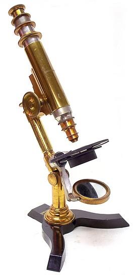 Ernst Gundlach, monocular microscope, c. 1879