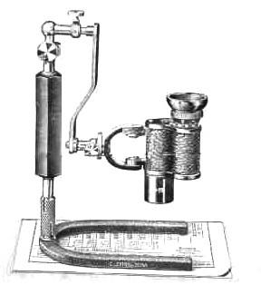 Fernrohrlupe on a stand