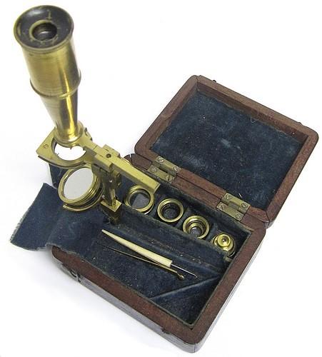 Folding Cary-Gould type pocket microscope, c.1827