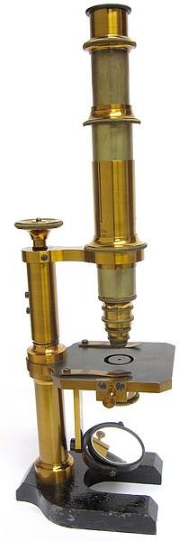 Franz Schmidt & Haensch, Berlin. Continental model microscope, c. 1880