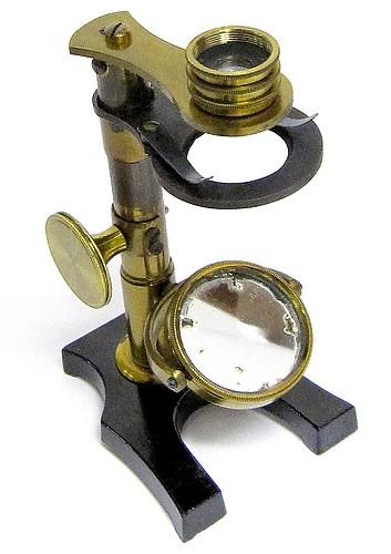 French botanical or entomological microscope, unsigned, c. 1880