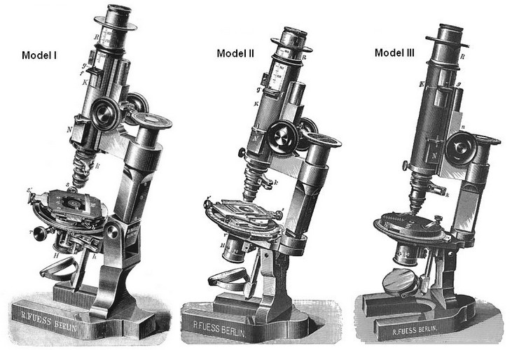Fues microscope Models 1-3