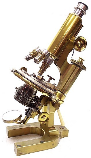 "Bausch & Lomb Optical Co. New York, Rochester NY, Chicago. Serial number 27818. ""The Grand"" Continental Model Microscope DDS c. 1898"