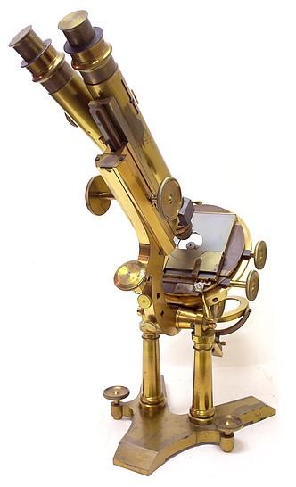 j. & w. grunow, #594 - binocular microscope, c. 1874