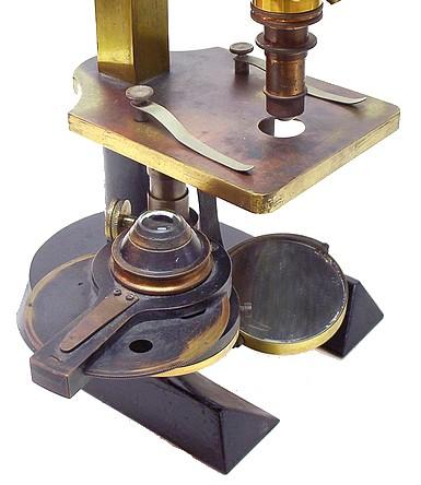 J. Grunow, New York, Roosevelt Memorial, Monocular microscope. Substage