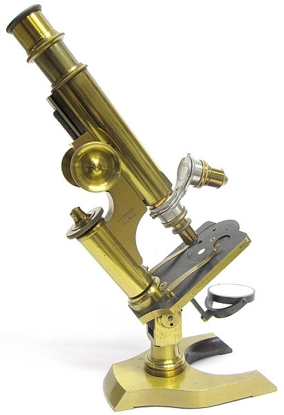j. grunow, new york no. 984. Continental style microscope
