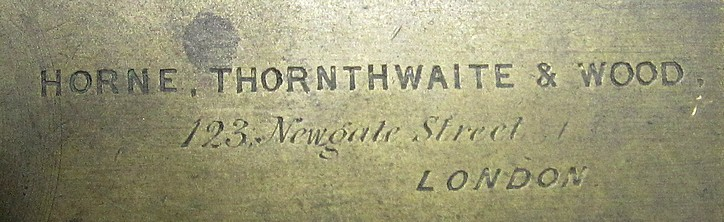 Horne Thornthwaite & Wood 123 Newgate Street London c.1848