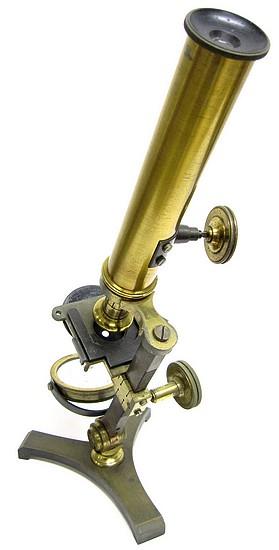 Horne Thornthwaite & Wood 123 Newgate Street London. Early achromatic monocular microscope. c.1848