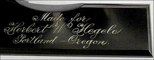 Made for Herbert W; Hegele