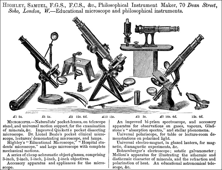 from the catalog of the International Exhibition of 1862