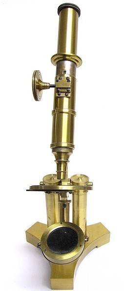 J. B. ALLEN, Springfield Mass., Early American monocular microscope, c. 1858