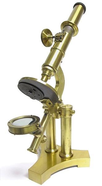 J. B. ALLEN, Springfield Mass. Early American monocular microscope, c. 1858