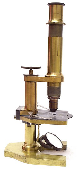 J. Grunow New York, No. 780. Continental type microscope