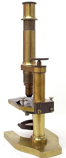 J. Grunow, New York, No.780. Monocular microscope