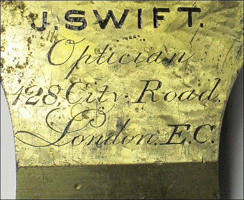 J. Swift, Optician, 128 City Road, London E. C.