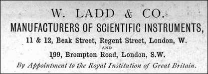 W. Ladd . Beak St. Regent St. W. c. 1864