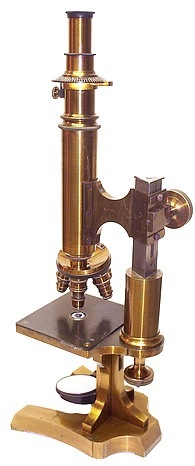 E. Leitz in Wetzlar # 1751. Large microscope with polarizing attachments. c. 1874