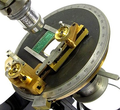 E. Leitz Wetzlar No. 221090. The CM Model Petrological Microscope. mechanical stage