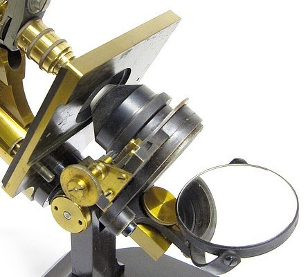 E. Leitz, Wetzlar, No. 7521. Microscope Stand 1, c. 1885. sub-stage Abbe condenser