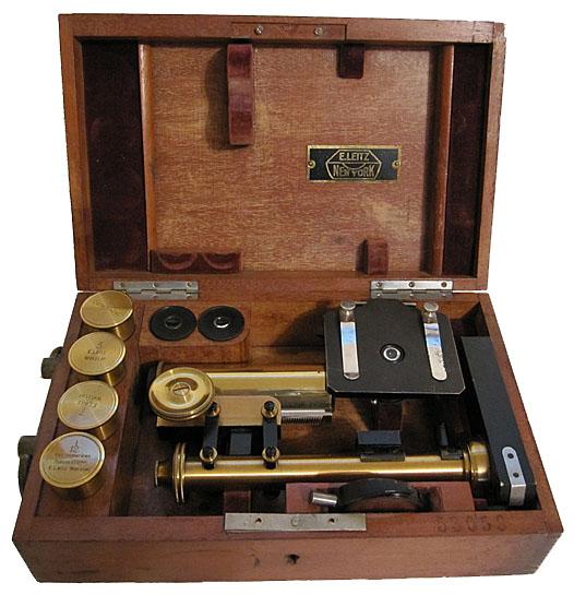 E. Leitz, New York and bears the serial # 53059. Leitz Travelling Microscope c. 1899