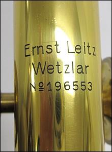 "Ernst Leitz, Wetzlar; serial # 196553. Leitz Large Travelling Microscope ""DT"", c. 1920. Signature"