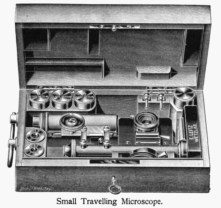 Leitz small travelling microscope