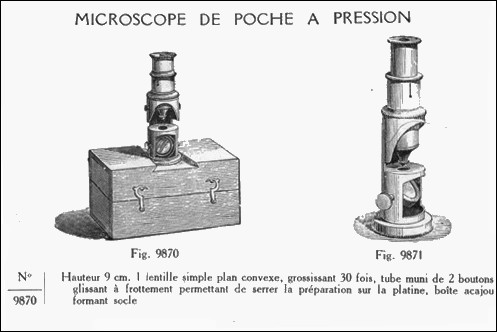 Catalogue Soci�t� des Lunetiers pocket microscope