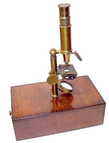Made for McAllister & Co., Philadelphia. c.1844. Microscope attributed to Buron